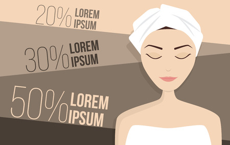 perfect skin: Perfect skin treatment illustration, beauty vector