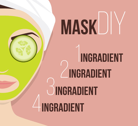 complexion: Mask for treating skin, vector illustration