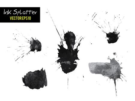 Ink blots splashes illustration