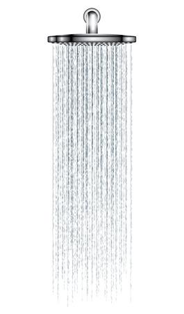 흰색 배경에 그림 레인 샤워