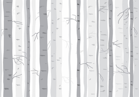 winter forest: Seamless tree wallpaper trees pattern