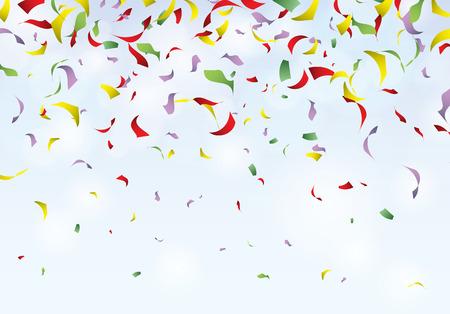 Confetti party background carnival illustration