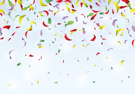 Confetti party seamless pattern carnival background Illustration