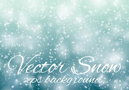 copo de nieve: Bokeh azul claro resumen de antecedentes