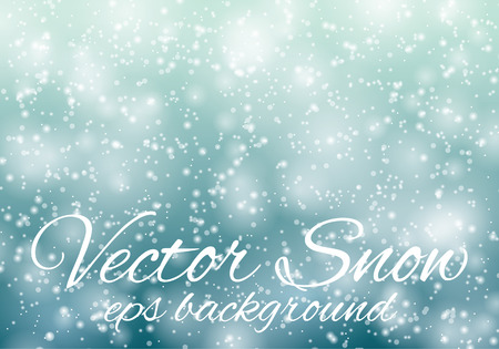 snowflake background: Light blue bokeh abstract background