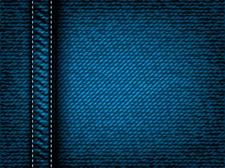 seam: Denim jeans texture with seam, part of clothes