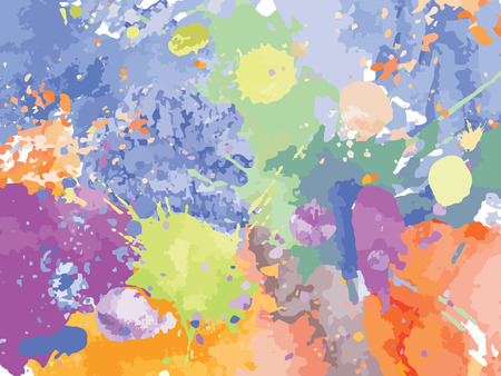 blots: Colorful Watercolor blots splashes background