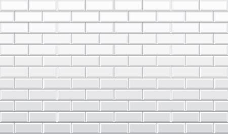 Seamless white brick wall pattern wallpaper