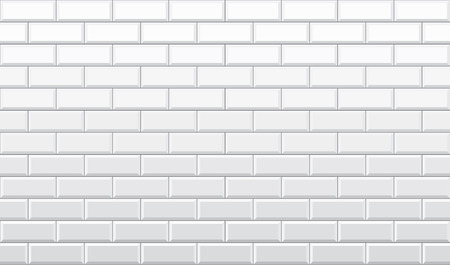 Seamless white brick wall pattern wallpaper