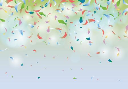 nouvel an: Confetti parti illustration de fond de carnaval Illustration