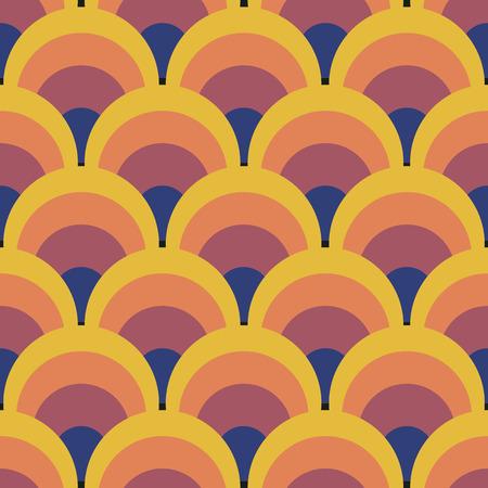 Bezproblemowa geometryczny zabytkowe tapety ilustracji wektorowych
