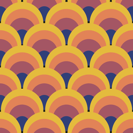 Seamless geometric vintage wallpaper vector illustration Reklamní fotografie - 43675511