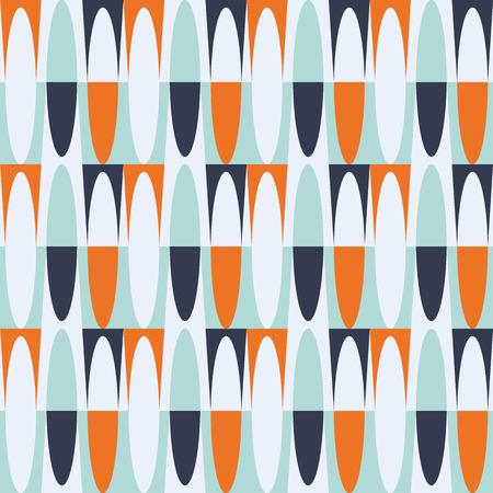 Seamless geometric vintage wallpaper vector illustration