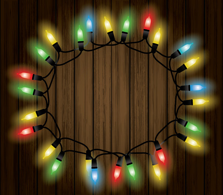 string of christmas lights: Christmas lights decoration with background