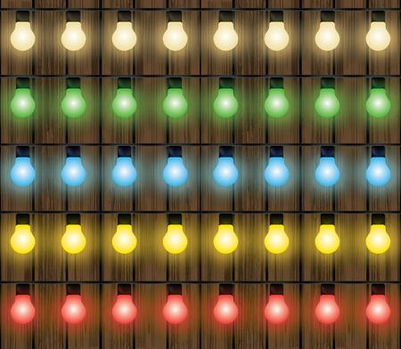 strings: Christmas colorful lights