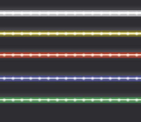 led light: Colorful led light stripes