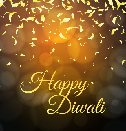 dipawali: Diwali Holiday vector illustration with confetti in background