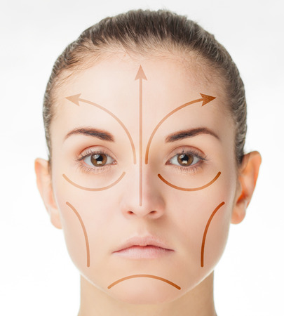 surgery concept: Plastic surgery concept, beauty treatment and skin care Stock Photo