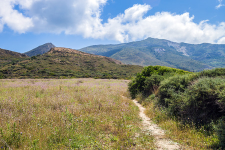 zakynthos: Mediterranean summer landscape with mountains, Zakynthos Island Greece