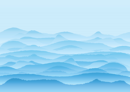 lifeless: Vector landscape with mountains, background or wallpaper design Stock Photo