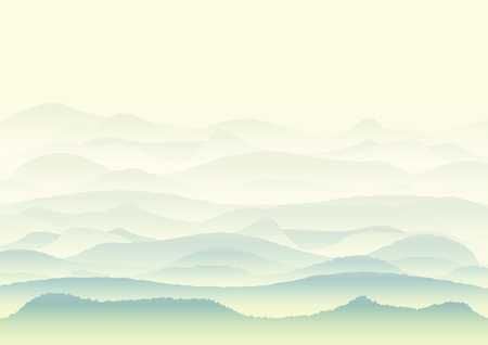 lifeless: Vector landscape with mountains, background or wallpaper design Illustration