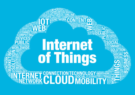 wordcloud: Internet of Things cloud computing vector wordcloud concept illustration