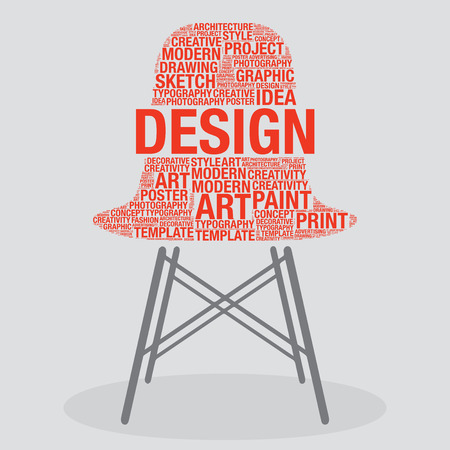 stylish chair: Design on stylish chair interior art concept, vector illustration