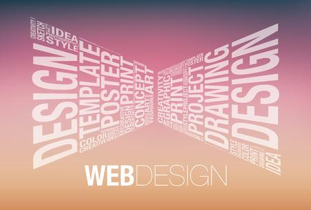 web template: Web design conceptual presentation template, vector illustration Illustration