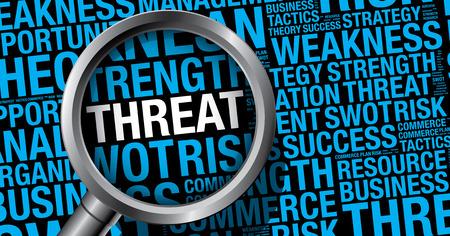 threat: Threat word cloud business concept, vector presentation template