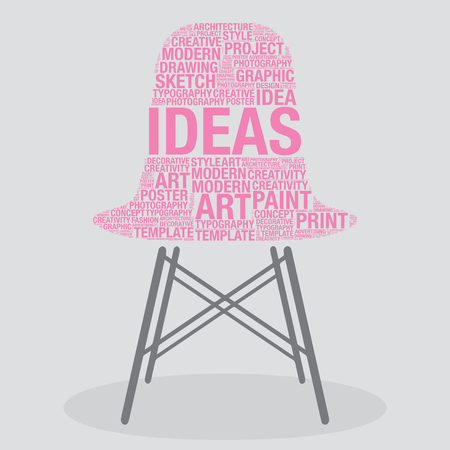 stylish chair: Ideas on stylish chair interior design concept, vector illustration