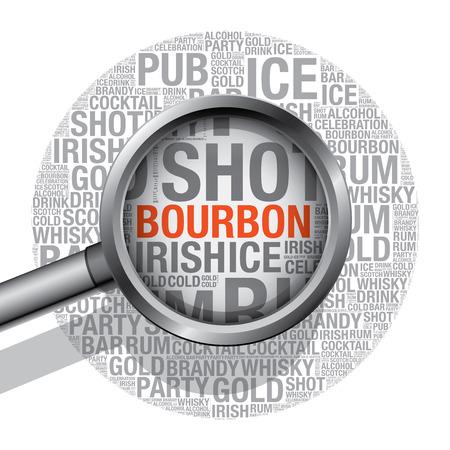 bourbon: Bourbon word cloud concept, vector illustration