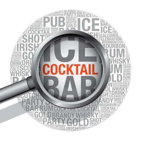 bourbon: Cocktail word cloud concept, vector illustration