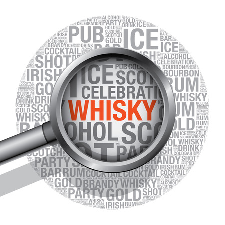 bourbon whisky: Whisky word cloud concept, vector illustration