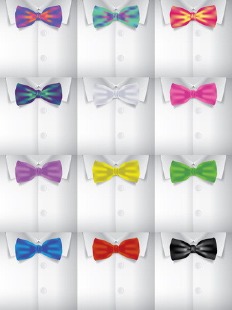 new year party: Bow tie and shirt vector collection, fashion new year party Illustration
