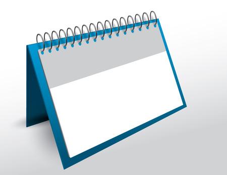 copy: 3d vector blank calendar with copy space