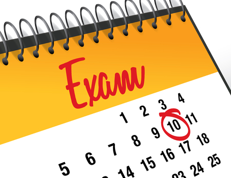Exam Day mark on calendar vector illustration