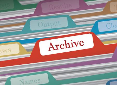 Archive dossier dans dossiers dossiers finances personnelles, illustration vectorielle Vecteurs