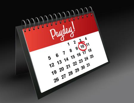 payday: Payday mark on calendar vector illustration