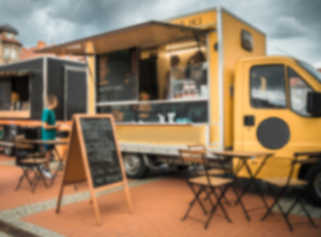 Food truck festival, blurred image for background