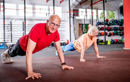 Senior people doing rehab workout at the gym Reklamní fotografie