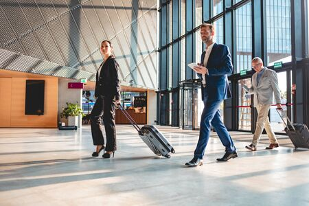 Business people at airport hall