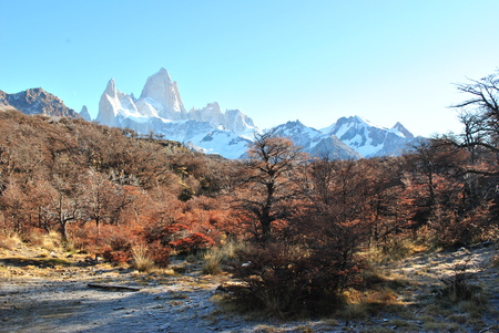 chalten: Fitz Roy view in El Chalten Stock Photo