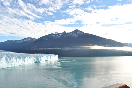 andes: Argentino Lake with Andes mountains