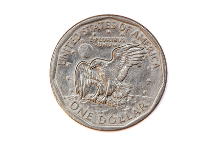 reverse: 1979 Dollar Coin Reverse Stock Photo