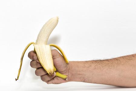 peeling: Peeling Banana Stock Photo