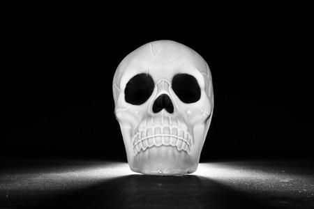 illuminated: Illuminated Skullk Stock Photo
