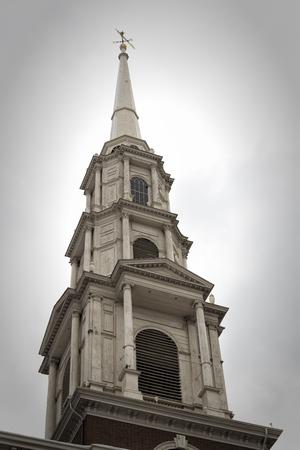 church steeple: Park Street Church Pinnacle Boston