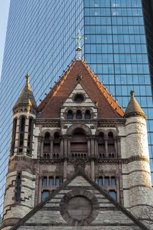 Trinity Church Details, Boston