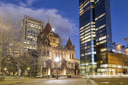 Trinity Church, Boston, Night View