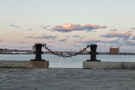 Sunset in the Boston Harbor
